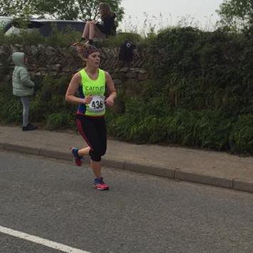 Michelle Hart running for Cornwall Air Ambulance